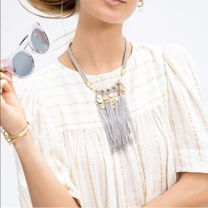 Stella and Dot fringe statement necklace